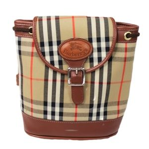 Vintage Burberry Nova Check Small Backpack Bag